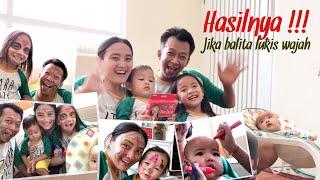 Video Face Painting Challenge   Fun Family Game   Anak Balita Melukis Wajah   Lucu Seru Banget MP3, 3GP, MP4, WEBM, AVI, FLV Maret 2019