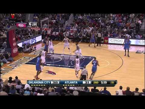Russell Westbrook vs Hawks (Full Highlights) [19.12.2012]