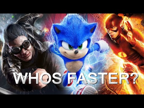 SONIC VS THE FLASH VS QUICKSILVER || BEST SLOW MOTION Scenes 4K