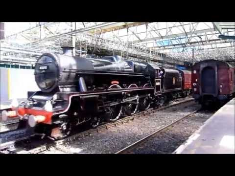 45690 Leander at Carlisle with The Cumbrian Mountan Express on 6th August 2016 (видео)