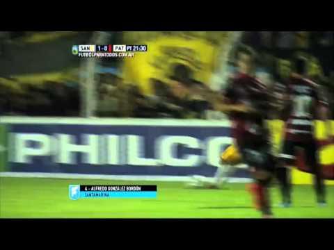 Gol de González Bordón. Santamarina 1 – Patronato 0. Final del Reducido. B Nacional 2015.