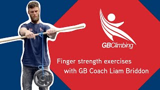 Finger strength exercises with GB Climbing Coach Liam Briddon by teamBMC