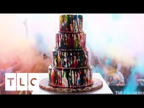 A Colorful Cake for the 5th Anniversary of The Color Run | Cake Boss, Season 9