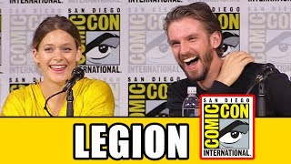 Legion Season 2 Comic Con panel news & highlights with Dan Stevens, Rachel Keller, Aubrey Plaza, Jean Smart, Bill Irwin, Jeremie Harris, Amber Midthunder, Noah Hawley, John Cameron, Lauren Shuler Donner & Jeph Loeb.Subscribe for more! ► http://bit.ly/FlicksSubscribeN.B. Footage, clips, previews, trailers & sneak peeks shown at Comic Con panels are not included in this video, as these are not allowed to be filmed. RELATED VIDEOS--------------WTF Facts About Legion ► http://youtu.be/IwowBxmVs_UPLAYLISTS YOU MIGHT LIKE------------------------Marvel ► http://bit.ly/MarvelVideosFox Marvel Movies ► http://bit.ly/FoxMarvelVideosDC ► http://bit.ly/DCVideosMovie Deleted Scenes & Rejected Concepts ► http://bit.ly/MovieDeletedScenesEaster Eggs ► http://bit.ly/EasterEggVideosAmazing Movie Facts ► http://bit.ly/ThingsYouDidntKnowVideosPixar ► http://bit.ly/PixarVideosDisney Animation ► http://bit.ly/DisneyAnimationVideosStar Wars ► http://bit.ly/StarWarsVidsSOCIAL MEDIA & WEBSITE----------------------Twitter ► http://twitter.com/FlicksCityFacebook ► http://facebook.com/FlicksAndTheCityGoogle+ ► http://google.com/+FlicksAndTheCityWebsite ► http://FlicksAndTheCity.comThanks to Comic Con International http://www.comic-con.org/Legion, based on the New Mutants Marvel Comics by Chris Claremont and Bill Sienkiewicz, is the story of David Haller (Dan Stevens), a troubled young man who grew up believing himself to be schizophrenic, only to discover he is something more than human. In fact, David could be the most powerful mutant who has ever lived. Along with a team of other extraordinarily gifted people at a facility called Summerland, David learns to accept his true self and defeat the Shadow King. Or so they all believe. Creator/executive producer/writer/director Noah Hawley is joined by fellow executive producers John Cameron, Lauren Shuler Donner, and Jeph Loeb and series stars Dan Stevens, Rachel Keller, Aubrey Plaza, Jean Smart, Bill Irwin, Jeremie Harris, and Amber Midthunder for a conversation on what to look forward to from season 2 of Legion.