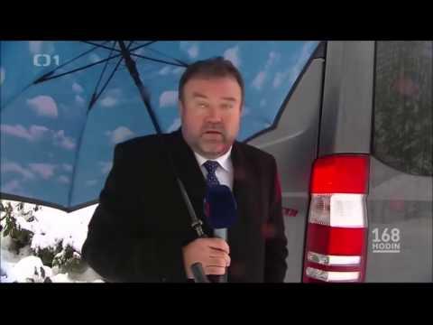 Těžký život reportéra ČT Miroslava Karase v Polsku! Nervy v kýblu a hromada sněhu za krkem