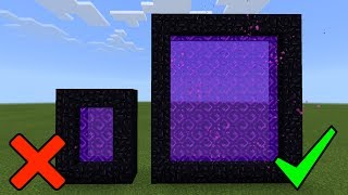 How To Make CUSTOM Nether Portals in Minecraft PE