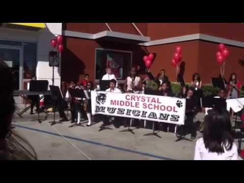 Crystal Middle School Jazz Band, Suisun, CA