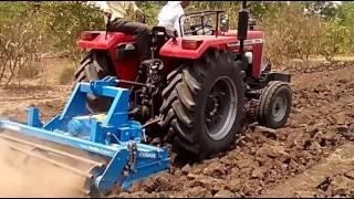 Massey Ferguson 9500 58 hp Tractor with lemken Power Harrow Implements