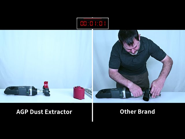 AGP Core Drilling: How to Use Dust Extractor