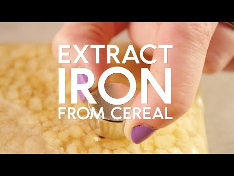 How to extract iron from cereal