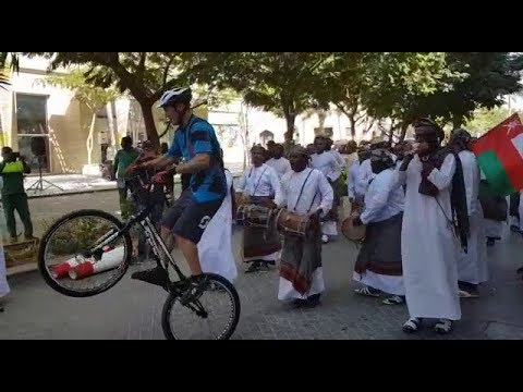 Video: Watch this cyclist dance to traditional Omani tunes — on a bike!
