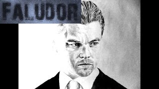 Inception - Dom Cobb - Leonardo DiCaprio - Realistic Timelapse drawing/Speed painting
