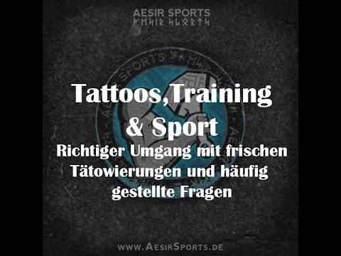 Training mit frischer Tätowierung? | Richtiger Umgang mit Tattoos beim Sport