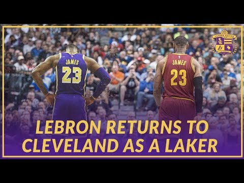 Video: Lakers News: LeBron James Returns To Cleveland as a Los Angeles Laker