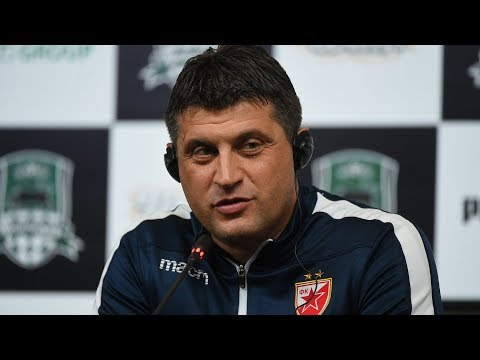 Пресс-конференция и тренировка «Црвены Звезды» в Краснодаре