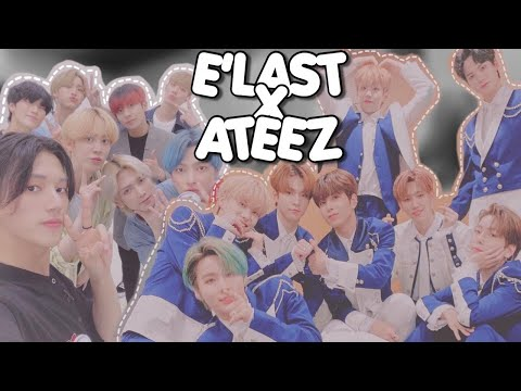 e'last being ateez fanboys for 13 mins straight