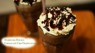 Starbucks Double Chocolate Chip Frappucino recipe | Frozen Coffee beverage | Summer Drink