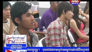 HIRUSCAR FACE OF CAMBODIA FASHION WEEK 2013 FINAL PRESS CONFERENCE @ SEA TV