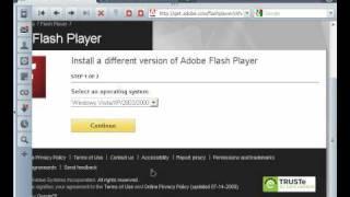 Как учредить flash-player?