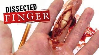 Dissected finger SFX makeup tutorial