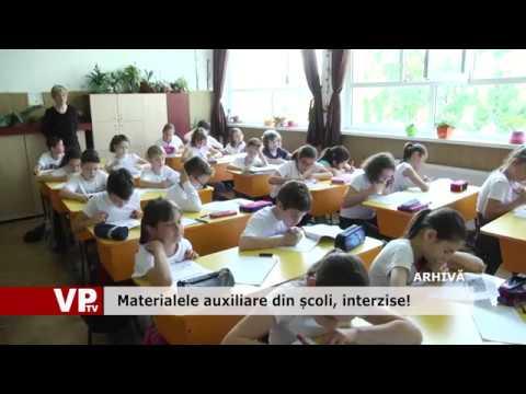 Materialele auxiliare din școli, interzise!