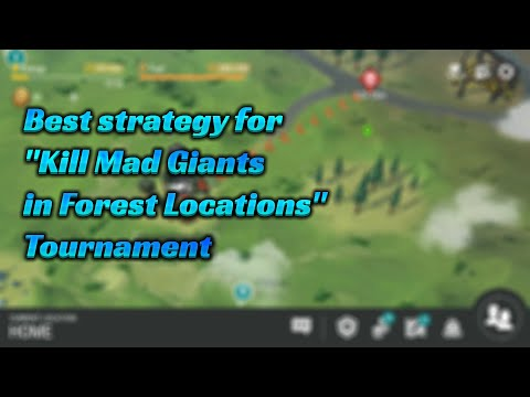 Best strategy for Kill Mad Giants in Forest Locations Tournament (LDOE - Last Day On Earth).