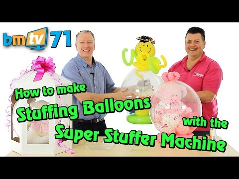 Stuffing Balloons with the Super Stuffer Machine: With Mark Drury from Qualatex - BMTV 71