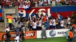 """Para ser campeão, o Bahia precisava vencer o Conquista por pelo menos três gols de diferença. O início do duelo começou """"quente"""". Tatu tentou arrancar do ..."""