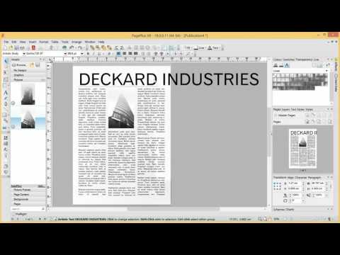 Serif PagePlus X9 Tutorial - Starting from Scratch