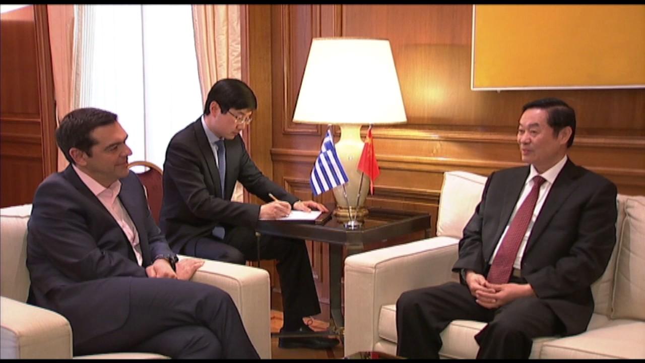 Συνάντηση με τον Liu Qibao, μέλος του Πολ  Γραφείου και της Γραμματείας της ΚΕ του ΚΚ Κίνας