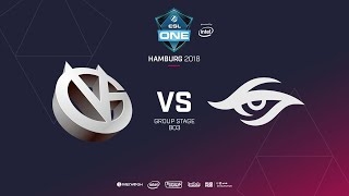 Team Secret vs Vici Gaming, ESL  One Hamburg, bo2, game 2 [Adekvat & Mortales]