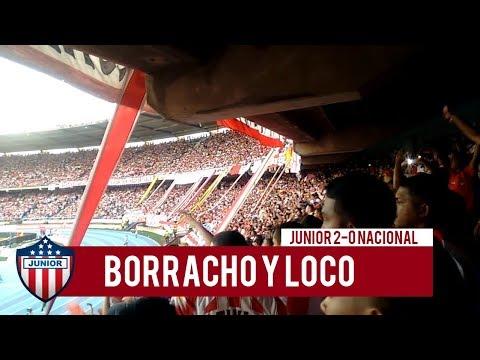 Borracho y Loco - JUNIOR 2-0 NACIONAL, Frente Rojiblanco Sur - Frente Rojiblanco Sur - Junior de Barranquilla
