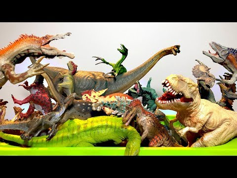 LOTS OF DINOSAUR TOYS - Learn Fun Dinosaur Toys Names For Kids