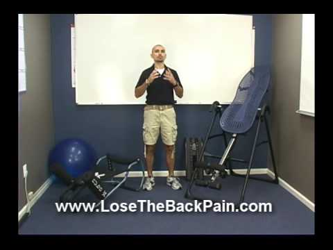 decompression - http://www.LoseTheBackPain.com Spinal Decompression is a great way to get lasting back pain relief. This video demonstrates a few ways you can decompress you...