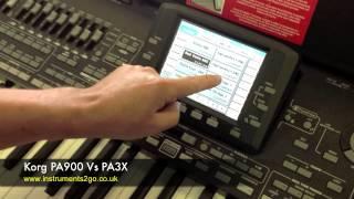 Korg PA900 vs Korg PA3X Keyboard Comparison