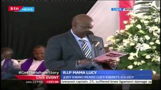 Anthony Kibaki Gives Tribute To His Late Mother Lucy Kibaki During Funeral Service