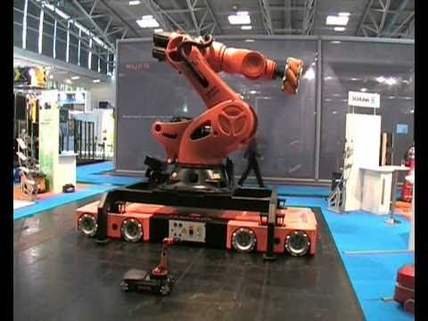 Omnimover - KUKA youBot vs. KUKA omnimove @ AUTOMATICA 2010 in Munich, Germany Music by bigbeatboy http://www.reverbnation.com/bigbeatboy#