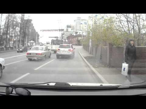 Volkswagen Touareg притёр видеорегистратор