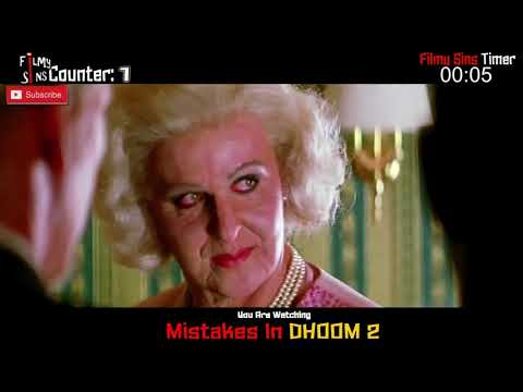 "(183 Mistakes) In Dhoom 2 - Plenty Mistakes In "" Dhoom 2 "" Full Hindi Movie - Hrithik Roshan"