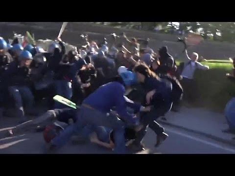 Ιταλία: Σοβαρά επεισόδια στο περιθώριο της G7