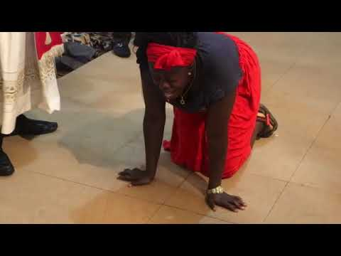 Girl vomits substance as Fr Dibie ministers deliverance on her- CEMADONTV