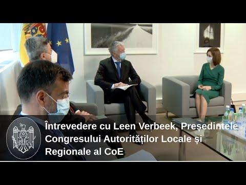 Președintele Maia Sandu a avut o întrevedere cu Președintele Congresului Autorităților Locale și Regionale al CoE, Leen Verbeek