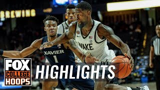 Chaundee Brown puts up 26 as Wake Forest knocks off Xavier, 80-78   FOX COLLEGE HOOPS HIGHLIGHTS by FOX Sports