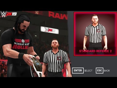 WWE 2K19: Heath Slater as Referee! (Selectable on Referee Selection Menu) - PC Mods