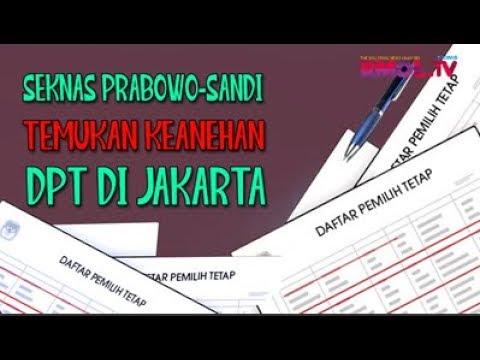 Seknas Prabowo-Sandi Temukan Keanehan DPT Di Jakarta