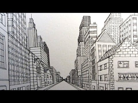 How to Draw a City Street in One Point Perspective
