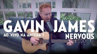 Gavin James nos estúdios da Antena 1.