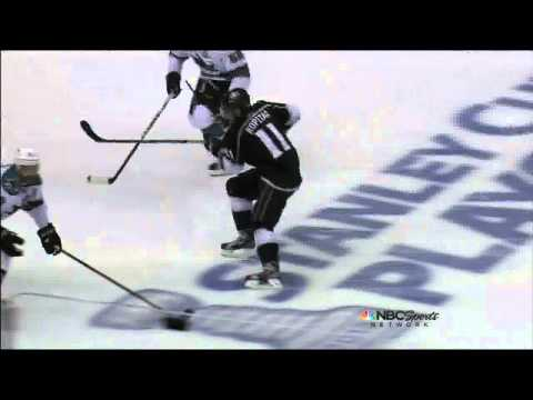 Anze Kopitar eats a Brown slapshot May 16 2013 San Joses Sharks vs LA Kings NHL Hockey_Best videos: Ice hockey