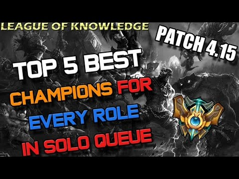 role - NOTHING HAS CHANGED FROM PATCH 4.14 (except Alistar a bit) THIS VIDEO IS TO CLEAR UP SOME QUESTIONS FOR PEOPLE ASKING ME! VERY VERY SMALL UPDATE FOR THIS PATCH. Just watch the previous Tier...
