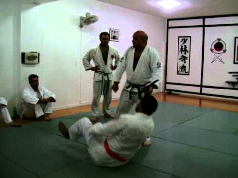 JUJUTSU SELF DEFENSE AGAINST FRONTAL MUGGING WITH KNIFE